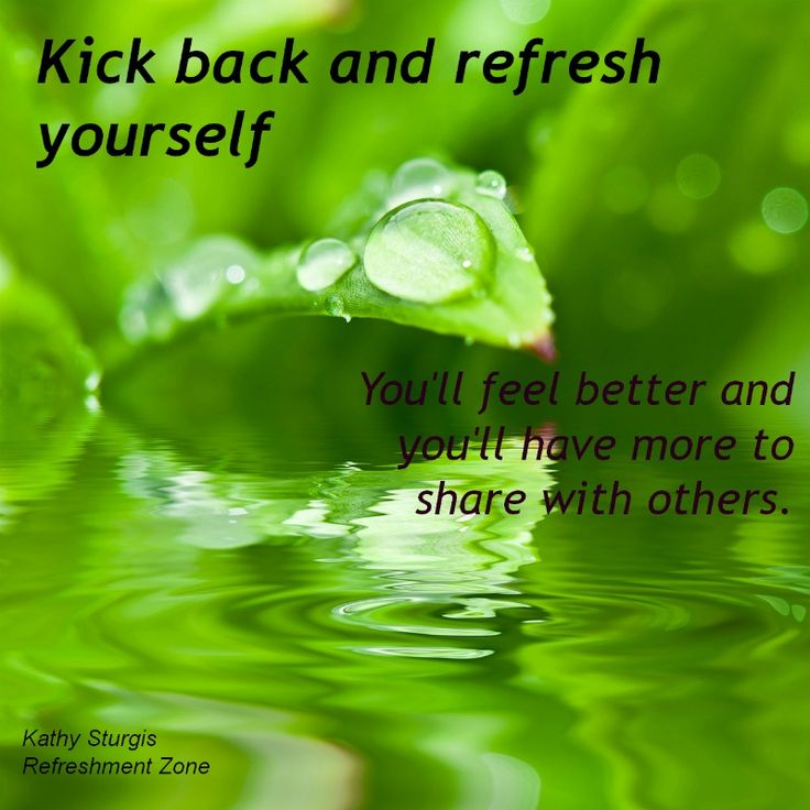 NEW BLOG posted today and new resources to refresh you at http://kathysturgis.simplesite.com/   If you feel refreshed, LIKE us on FACEBOOK. SHARE it with your friends. http://www.facebook.com/KathySturgisRefreshmentZone   SHARE our WEB-SITE with FIVE of your friends and have them do the same: www.refreshmentzone.com  ENJOY YOUR WEEKEND! ~K~