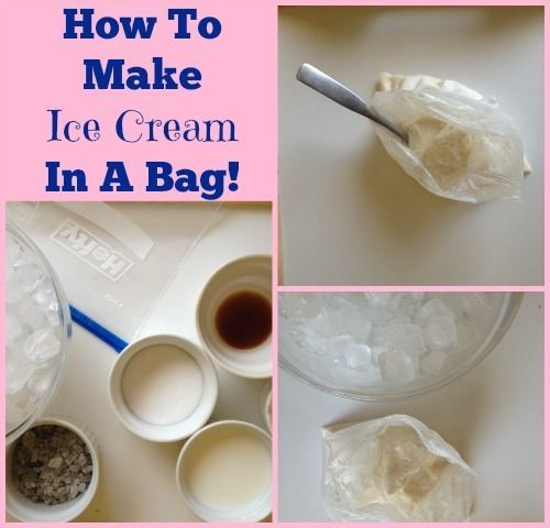 How to Make Ice Cream in a BagCrafty Mom, Diy Food, Snacks Time, Lunches Time, Ice Cream, Sunny Summer, Bags Photos