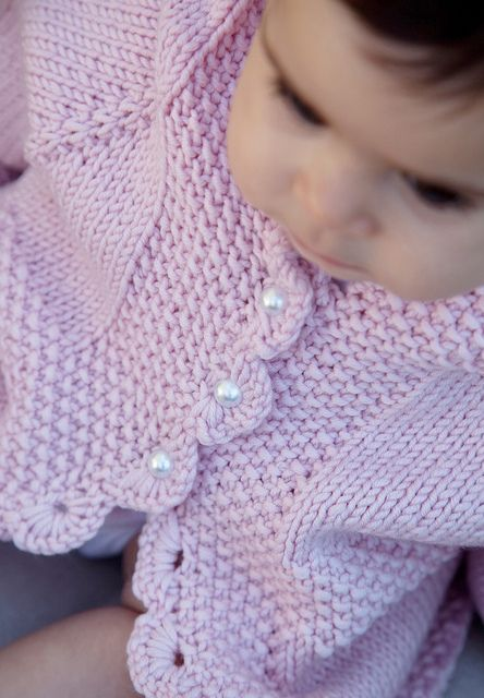 LottieDa's version of Diane Soucy's Easy Baby Cardigan- free beautiful sweater for my nieces