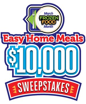 March Frozen Food Month $10,000 Sweepstakes 2016 http://easyhomemeals.com/Sweepstakes/march-frozen-food-month-sweepstakes-2016/enter