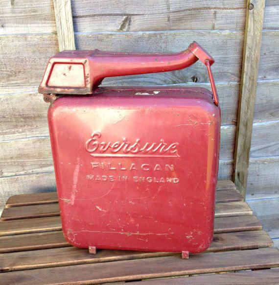 Vintage petrol can fillacan petrol/gasoline can 2 gallon