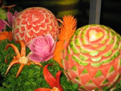 Fruit Carving Seni Mengukir Buah-Buahan Thailand