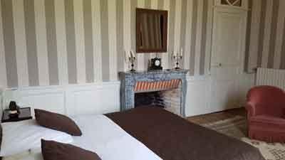 Une des chambres d'hôtes du château d'hôtes près de Nantes en Loire-Atlantique