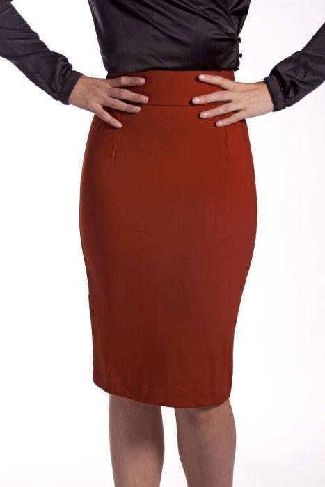 Christmas gift from my boyfriend! Very Cherry - Classic Pencil skirt Rust - Strakke rokken - Rokken & Broeken - Kleding
