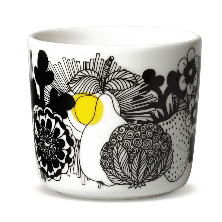 Marimekko Siirtolapuutahar Black / Yellow Coffee Cup w/o handle