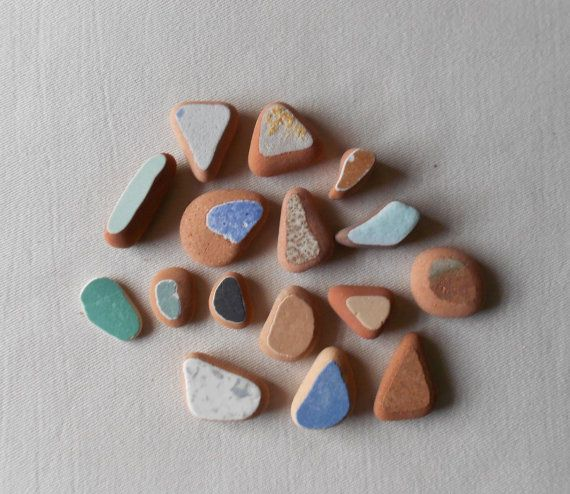Sea pottery materiali un mix di colori  per di lepropostedimari
