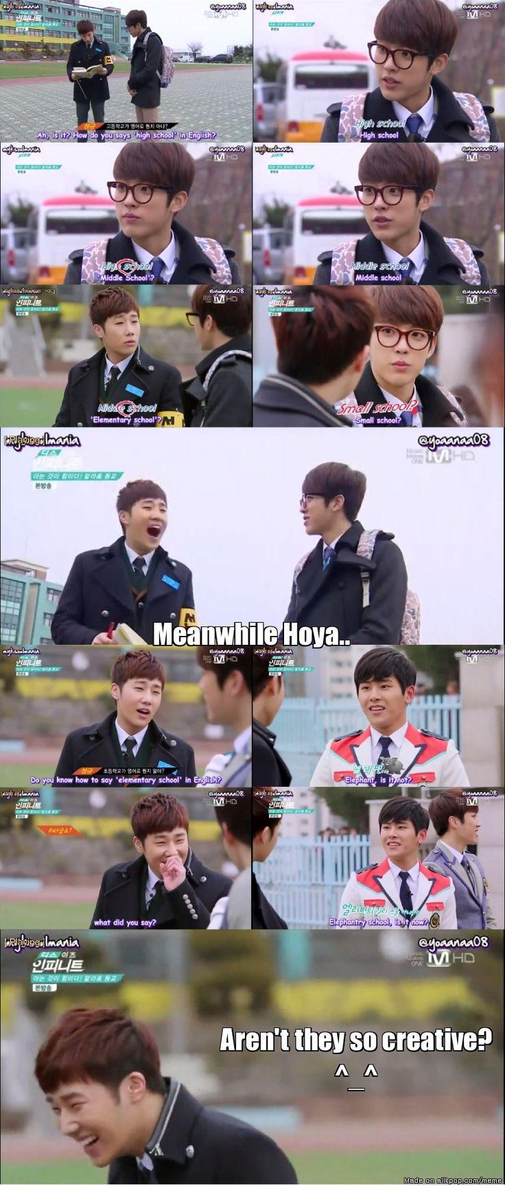 English Battle: Sungyeol vs. Hoya | allkpop Meme Center