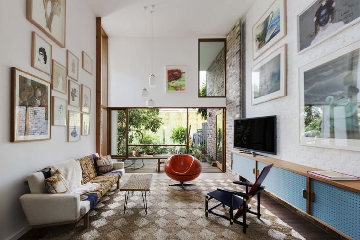 Check out the double height living space.