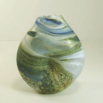 Lesley's work is always like this - soft surfaced glass you have to hold and which remind you of seaside days - small items are £80 - £120