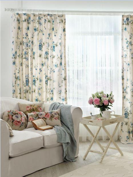 English Home özel dikim perdeler #floralprints #englishhome #perde #homedecoration