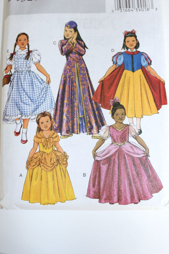 girls halloween costume pattern butterick new by purrfectstitchers 600 - Childrens Halloween Costume Patterns