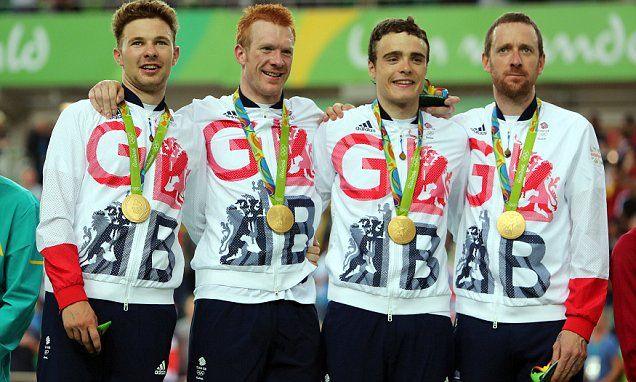 Bradley Wiggins and co win gold medal for Great Britain