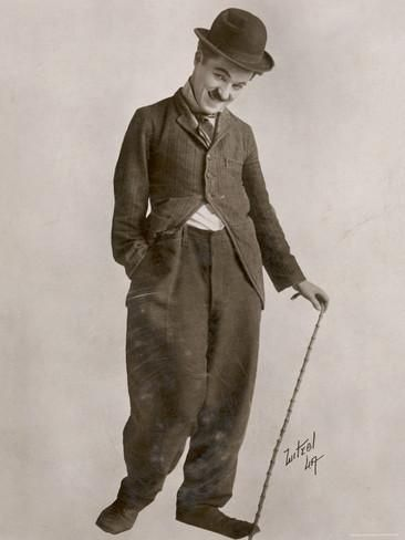 Charlie Chaplin (Sir Charles Spencer) English Comedian and Actor Photographic Print at AllPosters.com