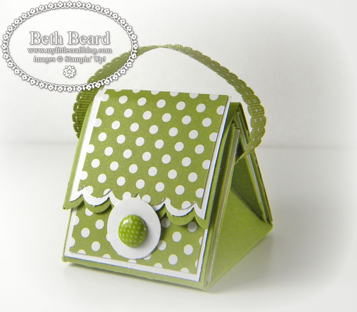 My little craft blog: Video: Mini Purse Treat Box