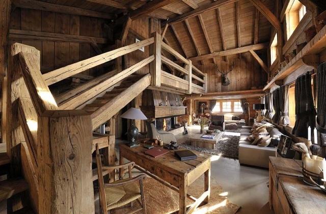 25 best la d co en montagne images by france montagnes on pinterest chalets cottages and lodges. Black Bedroom Furniture Sets. Home Design Ideas