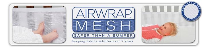 Airwrap Mesh - safer than a cot bumper