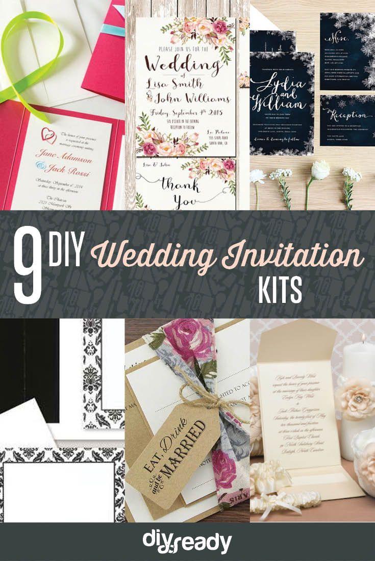 Best 25 diy wedding invitation kits ideas on pinterest diy 9 diy wedding invitation kits monicamarmolfo Gallery