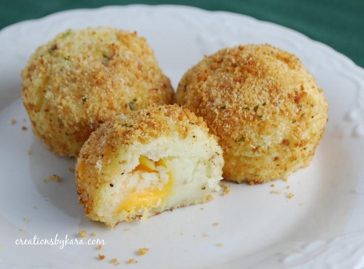 potato balls: Fun Recipe, Side Dishes, Cheesy Potatoes, Mashed Potatoes, Yummy Recipe, Favorite Recipe, Potatoes Ball, Breads Crumb, Chee Ball