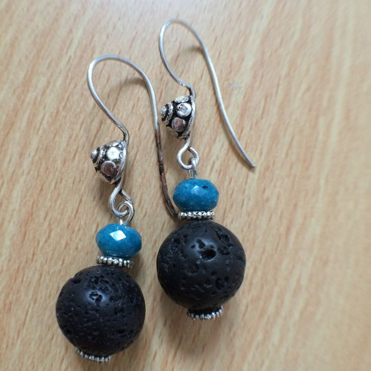 Free UK Delivery !   Black lava Earring ! by Theshobs on Etsy