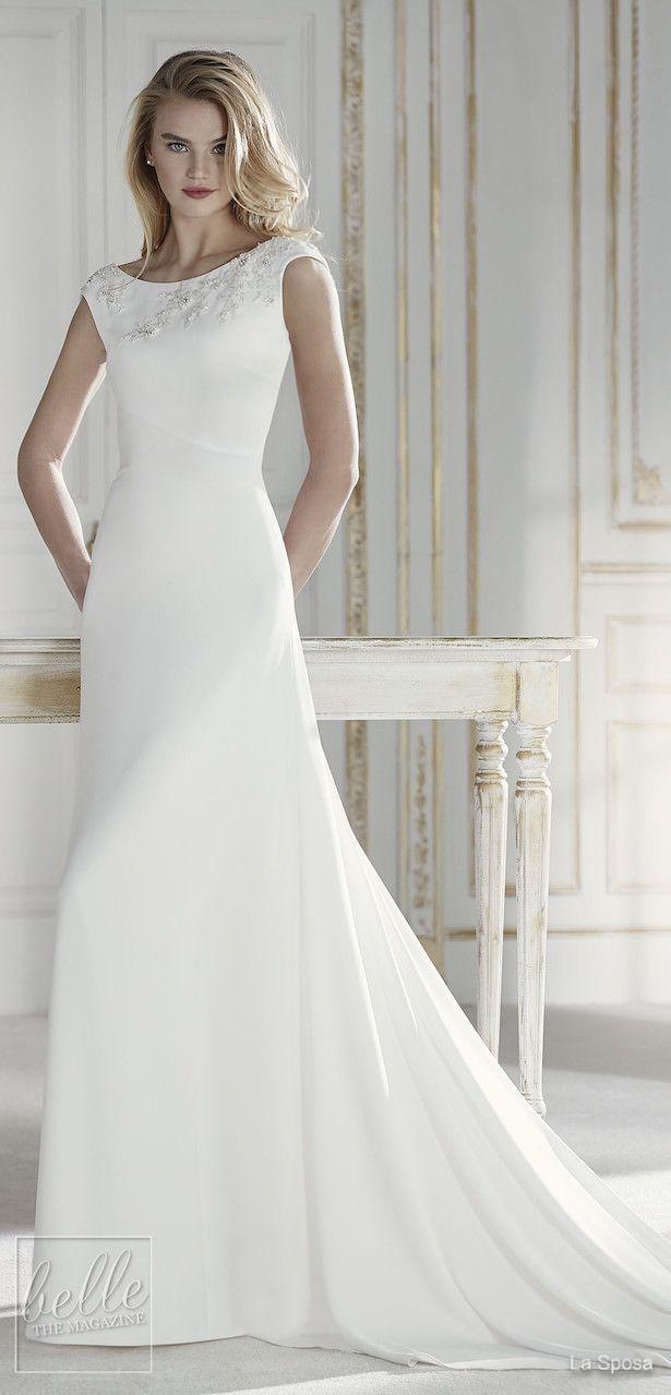 Simple Wedding Dresses Inspired By Meghan Markle Part 2 Wedding Dress Necklines Wedding Dresses Wedding Dresses Simple [ 1279 x 615 Pixel ]