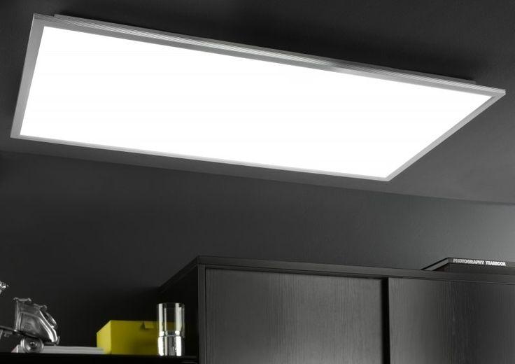 Diese schlichte LED-Leuchte wird in jedem Raum ein Hinkucker. Nicht nur die Helligkeit, sondern auch die Farbe lässt sich kinderleicht mithilfe einer Fernbedienung einstellen. #Deckenleuchte #LED #Lampe #moebelpower #moebeltraeume