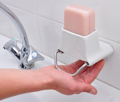 Bar soap dispenser  Ingenious idea but doesn't seem to be in production yet