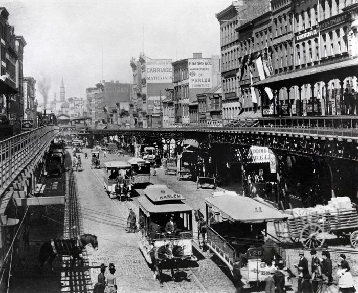 Bowery Looking North From Canal Street Circa 1880
