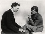 Painters Gottfried Brockmann and Willi Bonguard (Cologne 1924)