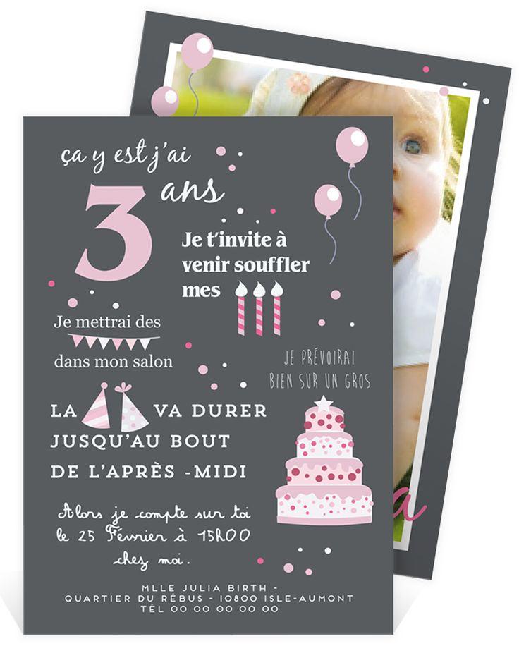 Les 25 meilleures id es de la cat gorie carte anniversaire fille sur pinterest invitation - Carte anniversaire petite fille ...