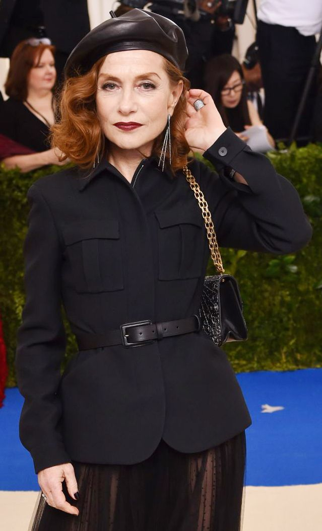 bd435bde Isabelle Huppert wearing a Dior leather beret at The Met Gala 2017 ...