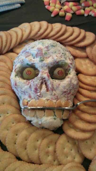 Skull Cheeseball | The Ultimate Collection Of Creepy, Gross And Ghoulish Halloween Recipes