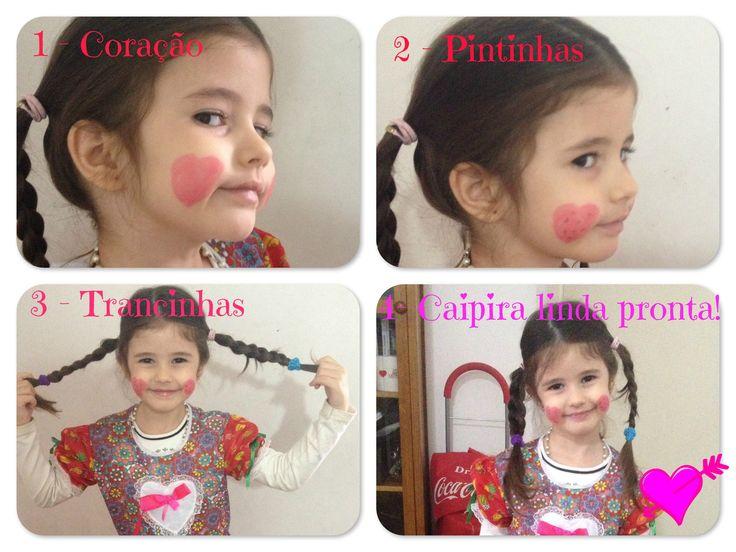 Aprenda a fazer maquiagem de festa junina para meninas e meninos