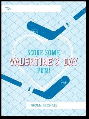 hockey valentine's card