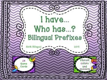"""These ALL Spanish cards are ideal for the popular """"I have…, who has…?"""" game and can be played whole class or in small groups. As students become familiar with the words, you can even time them or play in teams to make the game exciting.  Instructions, 24 color cards, and black & white copies :) ENJOY!!!"""