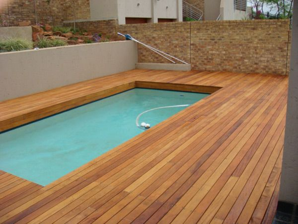 39 best garden small pools images on pinterest for Best timber to use for decking around a pool