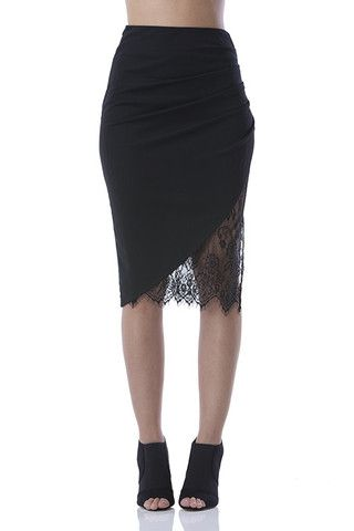 Lace Slit Skirt – Miss Scarlett