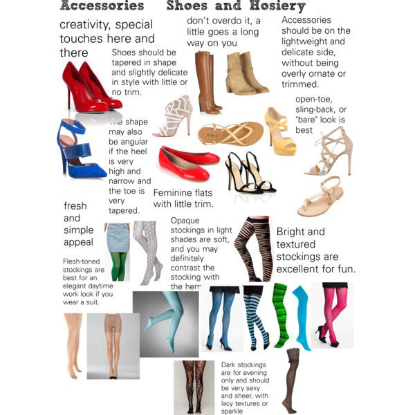 """""""Soft Natural (SN) Accessories - Shoes and hosiery"""" by lightspring on Polyvore"""