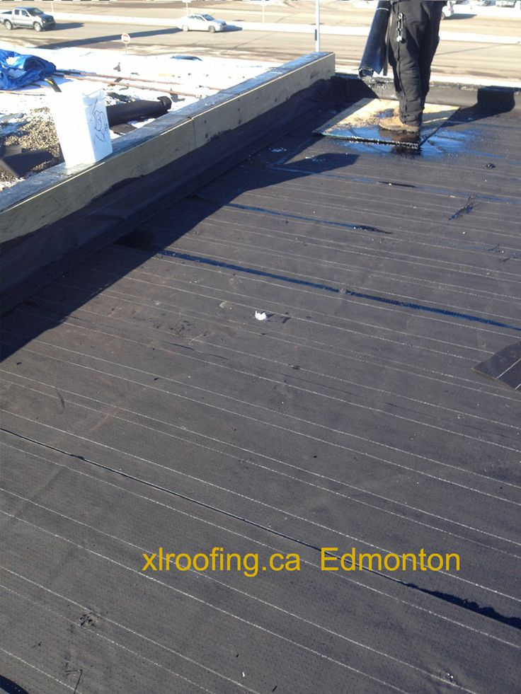 This Edmonton Roof Picture Shows A Completed 1 Ply Of 15lb