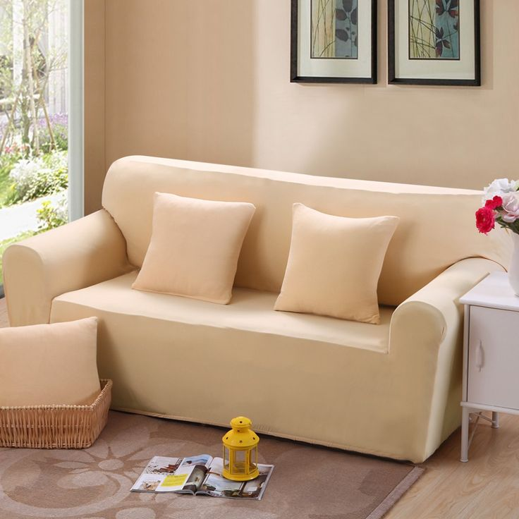 Universal Sofa Set Beige Bag All Inclusive Sofa Cover Double Seat Fabric Leather  Sofa Set