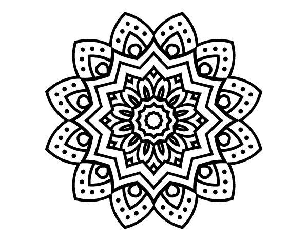 Natural flower mandala coloring page - Coloringcrew.com