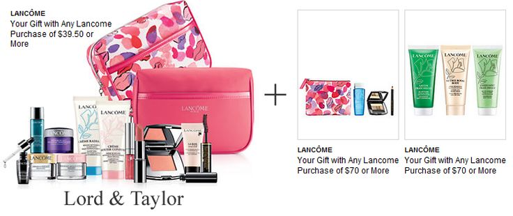 Select your 7pc gift + choose from another 2 gifts - Lancome promotions at Lord & Taylor. http://cliniquebonus.org/lancome-gift-with-purchase/