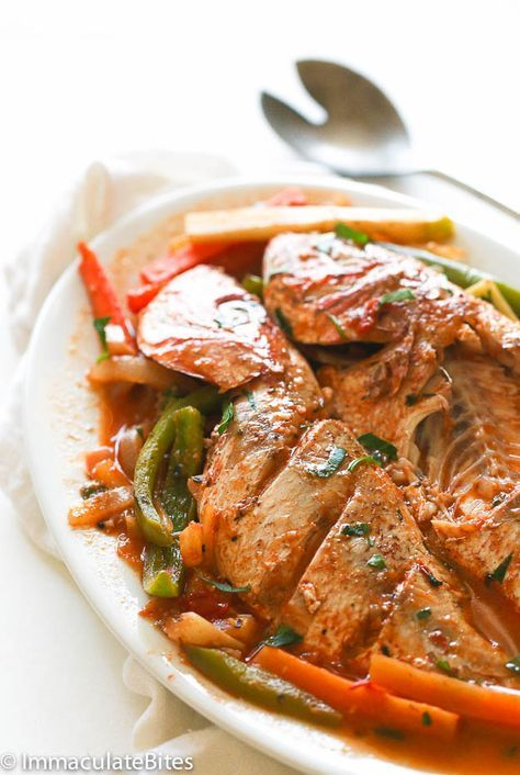 #Jamaican Steamed Fish [whole red snapper, lime or lemon, fresh thyme, paprika, garlic, ginger, tomato, allspice, green onions, scotch bonnet or cayenne pepper, bell peppers, vegetables: eg. carrots and chayote, fish stock]