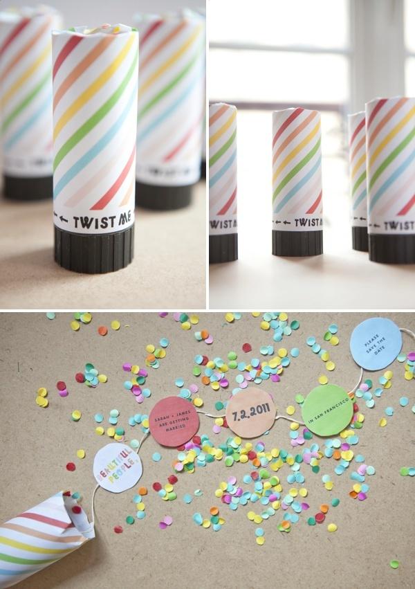 DIY: confetti invitations