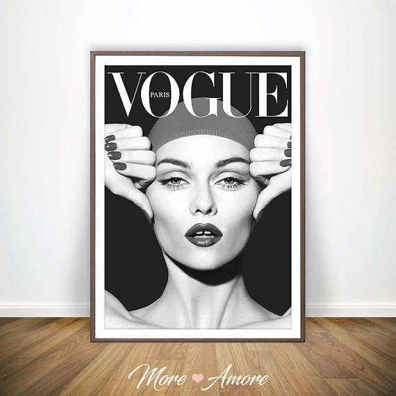 Vogue Wall Art Vogue Poster Zwart Wit Fotografie Fashion Wall Art Fashion Wall Art Scandinavian Wall Art