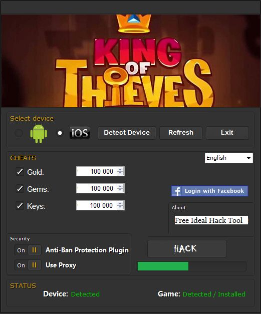 King of Thieves Hack Tool No Survey - Working