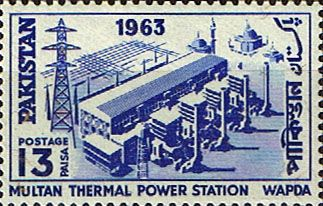 Pakistan Stamps 1963 Multan Thermal Power Station Fine Mint SG 193 Scott 187 Other Asian and British Commonwealth Stamps HERE!