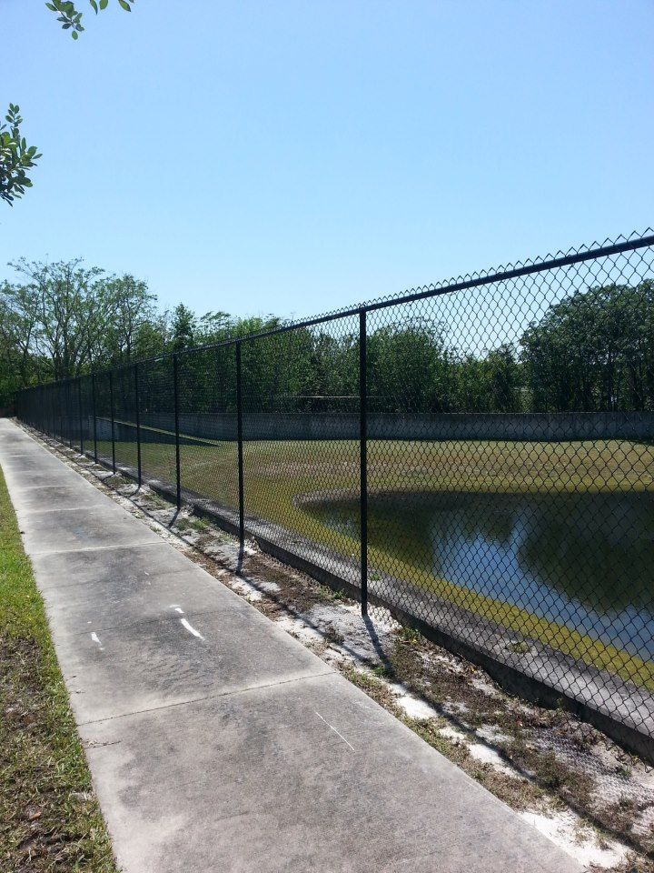 Best ideas about black chain link fence on pinterest