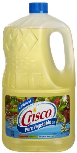 Crisco Pure all Natural Vegetable Oil - 128 oz Crisco http://www.amazon.com/dp/B00MFBUPKC/ref=cm_sw_r_pi_dp_Q0KGvb1R9RFXB