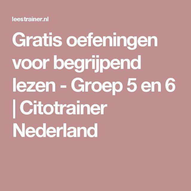 Gratis oefeningen voor begrijpend lezen - Groep 5 en 6 | Citotrainer Nederland
