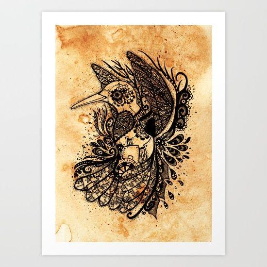 Hummingbird Art Print by ZaryaKiqo